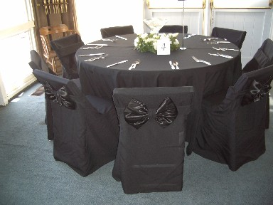 linens black chair covers black folding chair cover w black satin bow